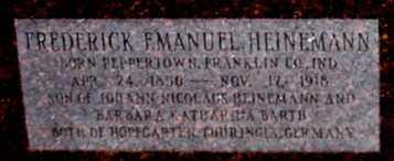 HEINEMANN, FREDERICK EMANUEL (CLOSE UP) - Garland County, Arkansas | FREDERICK EMANUEL (CLOSE UP) HEINEMANN - Arkansas Gravestone Photos