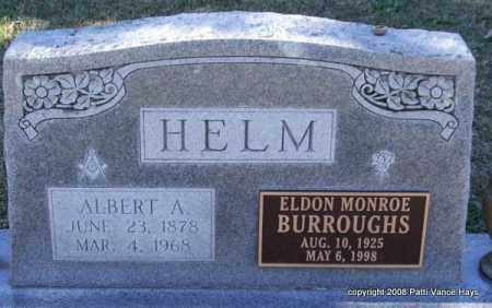 HELM, ALBERT A. - Garland County, Arkansas | ALBERT A. HELM - Arkansas Gravestone Photos