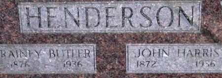 HENDERSON, JOHN HARRIS (CLOSE UP) - Garland County, Arkansas | JOHN HARRIS (CLOSE UP) HENDERSON - Arkansas Gravestone Photos