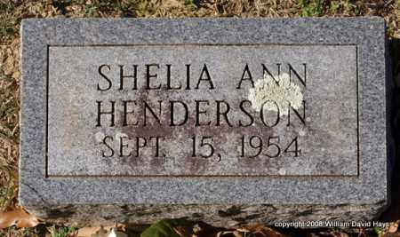 HENDERSON, SHELIA ANN - Garland County, Arkansas | SHELIA ANN HENDERSON - Arkansas Gravestone Photos