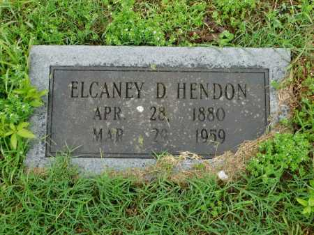 HENDON, ELCANEY D. - Garland County, Arkansas | ELCANEY D. HENDON - Arkansas Gravestone Photos