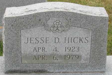 HICKS, JESSE D. - Garland County, Arkansas | JESSE D. HICKS - Arkansas Gravestone Photos