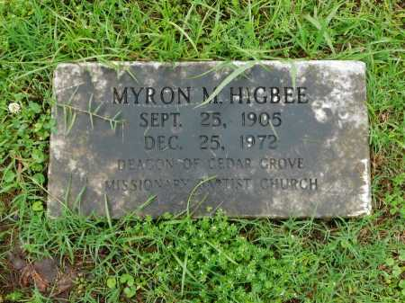 HIGBEE, MYRON M. - Garland County, Arkansas | MYRON M. HIGBEE - Arkansas Gravestone Photos