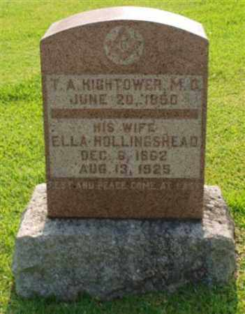 HOLLINGSHEAD HIGHTOWER, ELLA - Garland County, Arkansas | ELLA HOLLINGSHEAD HIGHTOWER - Arkansas Gravestone Photos