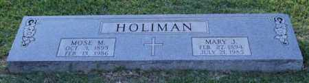 HOLIMAN, MOSE M. - Garland County, Arkansas | MOSE M. HOLIMAN - Arkansas Gravestone Photos