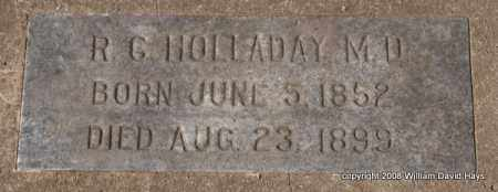 HOLLADAY, R. C. - Garland County, Arkansas | R. C. HOLLADAY - Arkansas Gravestone Photos