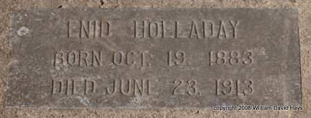HOLLADAY, ENID - Garland County, Arkansas | ENID HOLLADAY - Arkansas Gravestone Photos