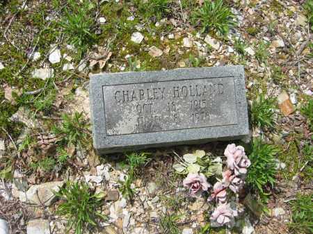 HOLLAND, CHARLEY - Garland County, Arkansas | CHARLEY HOLLAND - Arkansas Gravestone Photos