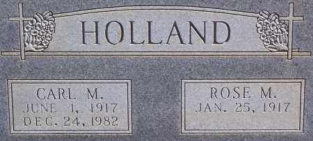 HOLLAND, CARL M. (CLOSE UP) - Garland County, Arkansas | CARL M. (CLOSE UP) HOLLAND - Arkansas Gravestone Photos