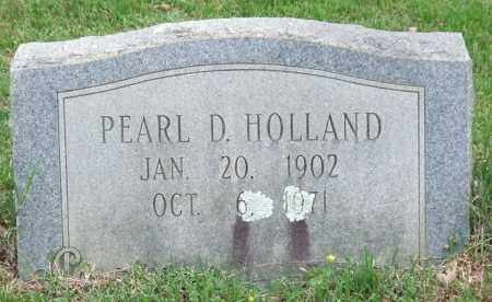 HOLLAND, PEARL D. - Garland County, Arkansas | PEARL D. HOLLAND - Arkansas Gravestone Photos