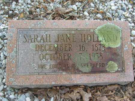 HOLLAND, SARAH JANE - Garland County, Arkansas | SARAH JANE HOLLAND - Arkansas Gravestone Photos