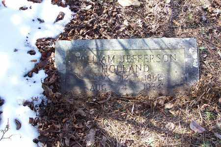 HOLLAND, WILLIAM JEFFERSON - Garland County, Arkansas | WILLIAM JEFFERSON HOLLAND - Arkansas Gravestone Photos