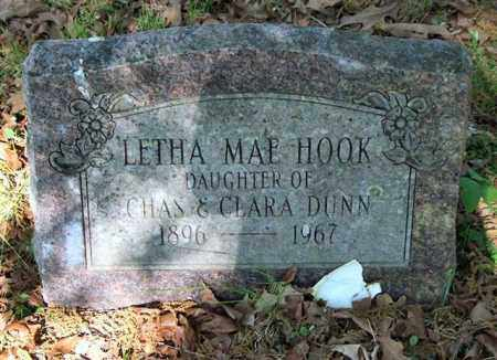 DUNN HOOK, LETHA MAE - Garland County, Arkansas | LETHA MAE DUNN HOOK - Arkansas Gravestone Photos