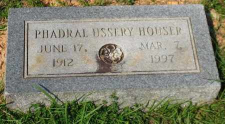 HOUSER, PHADRAL - Garland County, Arkansas | PHADRAL HOUSER - Arkansas Gravestone Photos