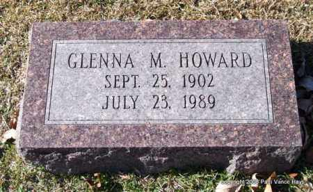 HOWARD, GLENNA M. - Garland County, Arkansas | GLENNA M. HOWARD - Arkansas Gravestone Photos