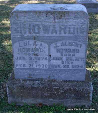 HOWARD, LULA A. - Garland County, Arkansas | LULA A. HOWARD - Arkansas Gravestone Photos
