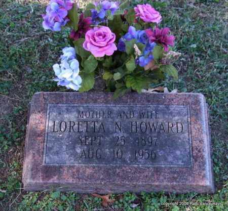 HOWARD, LORETTA N. - Garland County, Arkansas | LORETTA N. HOWARD - Arkansas Gravestone Photos
