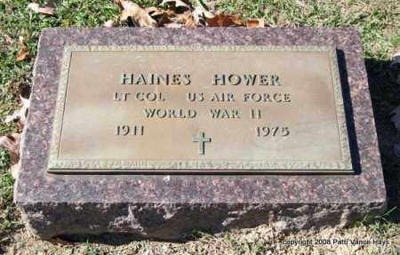 HOWER (VETERAN WWII), HAINES - Garland County, Arkansas | HAINES HOWER (VETERAN WWII) - Arkansas Gravestone Photos