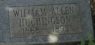 HUCHINGSON, WILLIAM ALLEN - Garland County, Arkansas | WILLIAM ALLEN HUCHINGSON - Arkansas Gravestone Photos