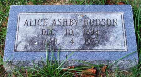 ASHBY HUDSON, ALICE - Garland County, Arkansas | ALICE ASHBY HUDSON - Arkansas Gravestone Photos