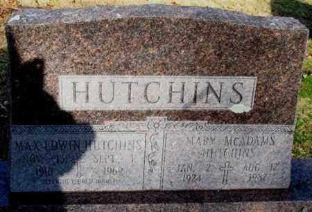 MCADAMS HUTCHINS, MARY - Garland County, Arkansas | MARY MCADAMS HUTCHINS - Arkansas Gravestone Photos