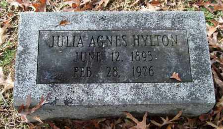 HYLTON, JULIA AGNES - Garland County, Arkansas | JULIA AGNES HYLTON - Arkansas Gravestone Photos