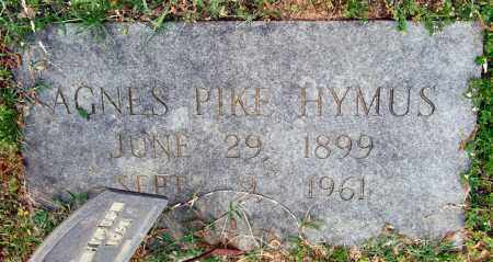 PIKE HYMUS, AGNES - Garland County, Arkansas | AGNES PIKE HYMUS - Arkansas Gravestone Photos