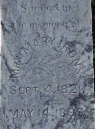 IRONS, MARY (CLOSE UP) - Garland County, Arkansas | MARY (CLOSE UP) IRONS - Arkansas Gravestone Photos