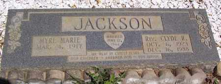 JACKSON, REV., CLYDE R. - Garland County, Arkansas | CLYDE R. JACKSON, REV. - Arkansas Gravestone Photos