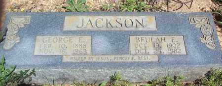 JACKSON, GEORGE E. - Garland County, Arkansas | GEORGE E. JACKSON - Arkansas Gravestone Photos
