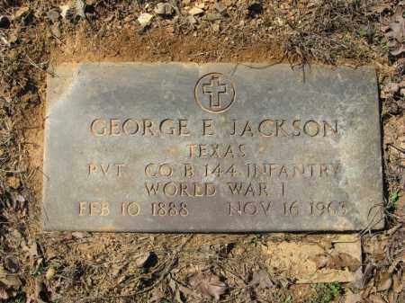 JACKSON (VETERAN WWI), GEORGE E. - Garland County, Arkansas | GEORGE E. JACKSON (VETERAN WWI) - Arkansas Gravestone Photos