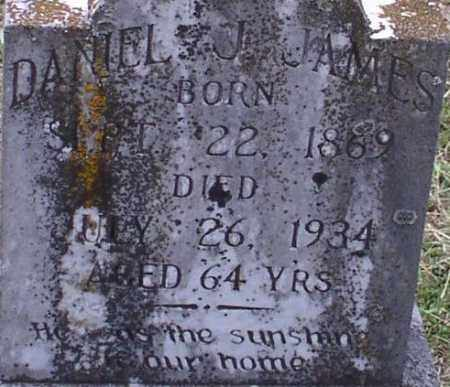 JAMES, DANIEL JEFFERSON (CLOSE UP) - Garland County, Arkansas | DANIEL JEFFERSON (CLOSE UP) JAMES - Arkansas Gravestone Photos