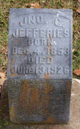 JEFFERIES, JOHN G. - Garland County, Arkansas | JOHN G. JEFFERIES - Arkansas Gravestone Photos