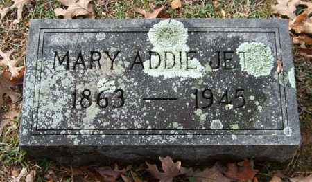 JETT, MARY ADDIE - Garland County, Arkansas | MARY ADDIE JETT - Arkansas Gravestone Photos