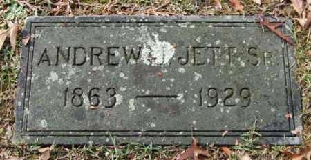 JETT, SR., ANDREW J. - Garland County, Arkansas | ANDREW J. JETT, SR. - Arkansas Gravestone Photos