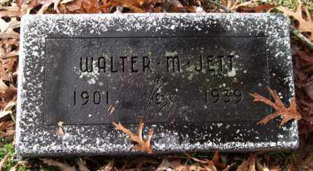 JETT, WALTER M. - Garland County, Arkansas | WALTER M. JETT - Arkansas Gravestone Photos