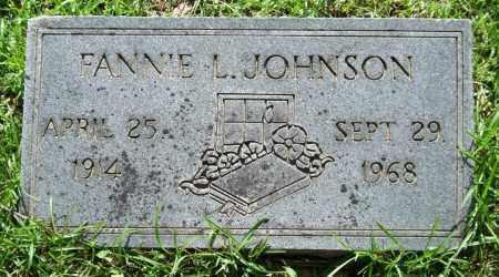 JOHNSON, FANNIE L. - Garland County, Arkansas | FANNIE L. JOHNSON - Arkansas Gravestone Photos