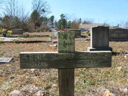 FAUGHT JOHNSON, GIRLIE - Garland County, Arkansas | GIRLIE FAUGHT JOHNSON - Arkansas Gravestone Photos
