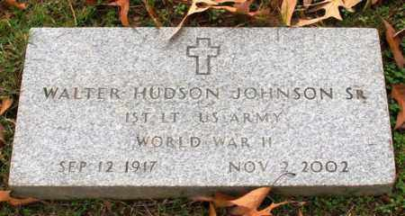 JOHNSON, SR (VETERAN WWII), WALTER HUDSON - Garland County, Arkansas | WALTER HUDSON JOHNSON, SR (VETERAN WWII) - Arkansas Gravestone Photos
