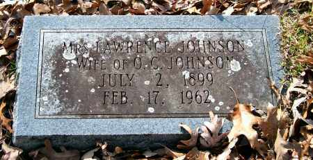 JOHNSON, MRS. LAWRENCE - Garland County, Arkansas | MRS. LAWRENCE JOHNSON - Arkansas Gravestone Photos