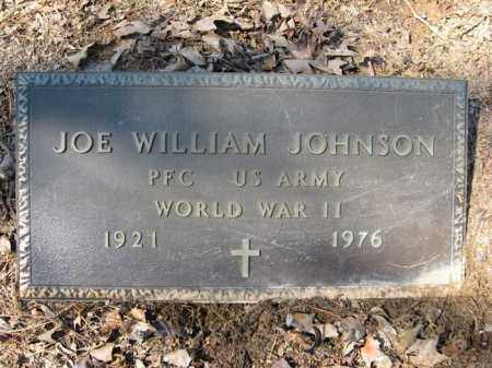 JOHNSON (VETERAN WWII), JOE WILLIAM - Garland County, Arkansas | JOE WILLIAM JOHNSON (VETERAN WWII) - Arkansas Gravestone Photos