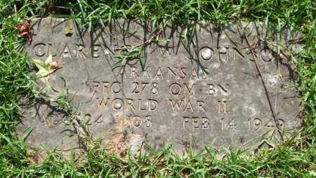 JOHNSON (VETERAN WWII), CLARENCE W. - Garland County, Arkansas | CLARENCE W. JOHNSON (VETERAN WWII) - Arkansas Gravestone Photos