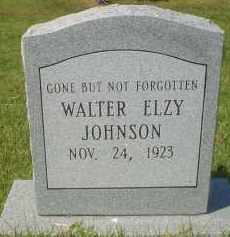 JOHNSON, WALTER ELZY - Garland County, Arkansas | WALTER ELZY JOHNSON - Arkansas Gravestone Photos