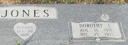 JONES, DOROTHY L. (CLOSE UP) - Garland County, Arkansas | DOROTHY L. (CLOSE UP) JONES - Arkansas Gravestone Photos