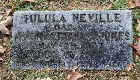 JONES, TULULA NEVILLE - Garland County, Arkansas | TULULA NEVILLE JONES - Arkansas Gravestone Photos