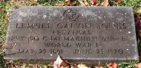 JONES (VETERAN WWI), LEMUEL CALVIN - Garland County, Arkansas | LEMUEL CALVIN JONES (VETERAN WWI) - Arkansas Gravestone Photos