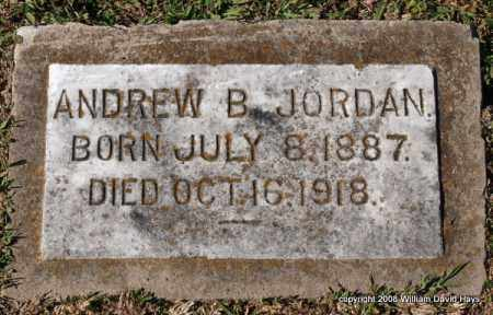 JORDAN, ANDREW B. - Garland County, Arkansas | ANDREW B. JORDAN - Arkansas Gravestone Photos