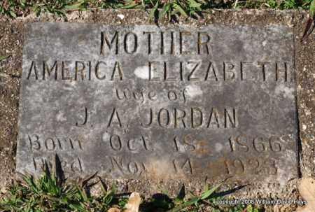 JORDAN, AMERICA ELIZABETH - Garland County, Arkansas | AMERICA ELIZABETH JORDAN - Arkansas Gravestone Photos