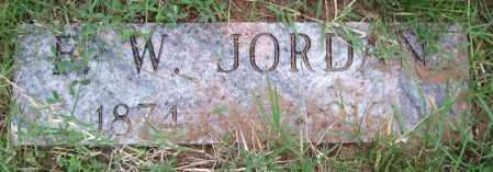 JORDAN, F. W. - Garland County, Arkansas | F. W. JORDAN - Arkansas Gravestone Photos