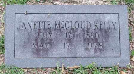 MCCLOUD KELLY, JANETTE - Garland County, Arkansas | JANETTE MCCLOUD KELLY - Arkansas Gravestone Photos
